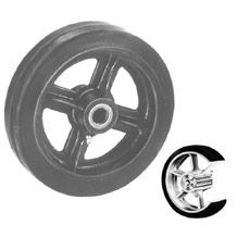 Win-Holt 7113 Mold Rubber Wheel 5""