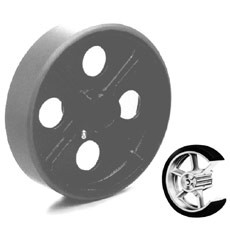 """Win-Holt 7115 Mold On Rubber Wheel 6"""""""