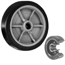 "Win-Holt 7130 8"" x 2"" Polyurethane Wheel"