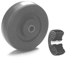 "Win-Holt 716 4"" x 1 1/4"" Rubber Wheel"