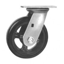 Win-Holt 7316 Swivel Plate Caster With Mold On Rubber Wheel 8""