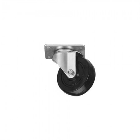 Win-Holt 73161 Swivel Plate Caster with Mold On Rubber Wheel 8""