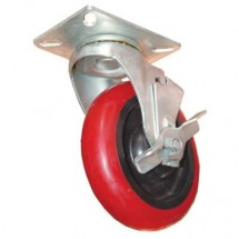 Win-Holt 738 Swivel Plate Caster with Rubber Wheel 5""
