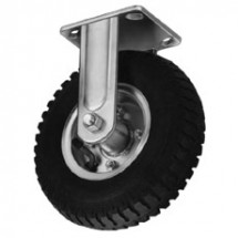 "Win-Holt 7412 Rigid Plate Caster, 6"" Polyolefin Wheel"