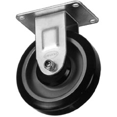 "Win-Holt 7418 Rigid Plate Caster, 4"" Polyurethane Wheel, 275 lbs Capacity"