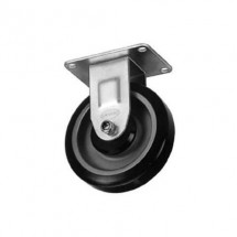 "Win-Holt 743 Rigid Plate Caster, 5"" Rubber Wheel, 200 lbs Capacity"