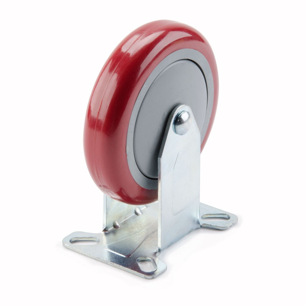 Win-Holt 743A Rigid Plate Caster with Polyurethane Wheel 5""