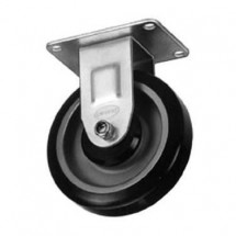 "Win-Holt 744 Rigid Plate Caster 5"" Polyolefin Wheel, 300 lbs Capacity"
