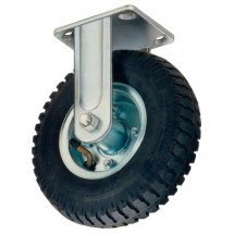 Win-Holt 7471 Rigid Plate Caster with Mold On Rubber Wheel 8""