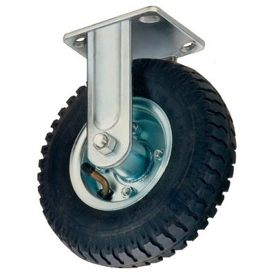 """Win-Holt 7471 Rigid Plate Caster with Mold On Rubber Wheel 8"""""""
