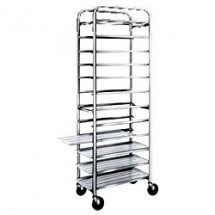"Win-Holt AL-1012 End Load Aluminum Platter Cart, Twelve 10"" Trays"