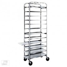 "Win-Holt AL-1212 End Load Aluminum Platter Cart, Twelve 12"" Trays"