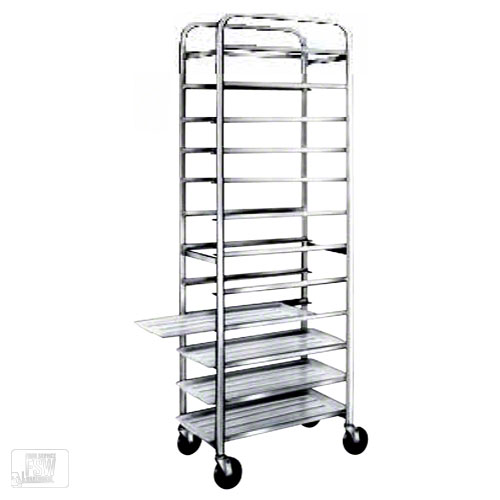 Win-Holt AL-1212 12-Tray End Load Aluminum Platter Cart
