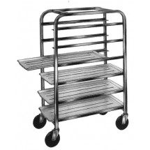 "Win-Holt AL-126 Half Height Aluminum Platter Cart, Six 12"" Trays"