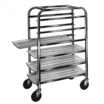 Win-Holt AL-186 6-Tray End Load Aluminum Platter Cart