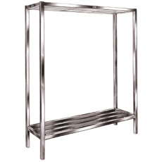 "Win-Holt ALSCS-60-220 Aluminum Tubular Cooler and Backroom Shelving 20"" x 60"""