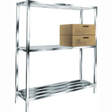 "Win-Holt ALSCS-60-320 Aluminum Tubular Cooler and Backroom Shelving, 20"" x 60"""