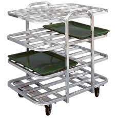 Win-Holt AVT-4-2637/PU Mobile Display Merchandiser Rack