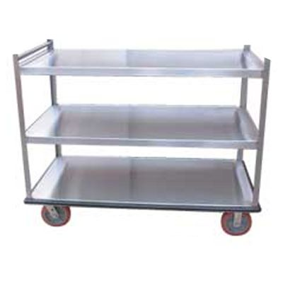 Win-Holt BNQT-3 3-Pan Aluminum Queen Mary Banquet Cart