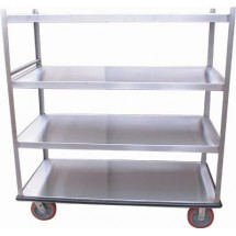Win-Holt BNQT-4 4-Pan Aluminum Queen Mary Banquet Cart