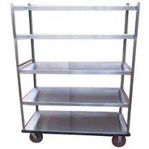 Win-Holt BNQT-5 5-Pan Aluminum Queen Mary Banquet Cart