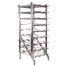 Win-Holt CR-162AJ Aluminum #10 Can Rack with Adjustable Feet