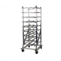 Win-Holt CR-162M Mobile Aluminum #10 Can Dispensing Rack