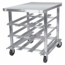 Win-Holt CR-54M Mobile Half-Size Aluminum #10 Can Dispensing Rack
