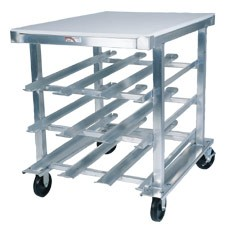 Win-Holt CR-72M Mobile Half Size Can Dispensing Rack with Aluminum Top