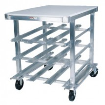 Win-Holt CR-72PT Mobile Half Size Can Dispensing Rack with Poly Top