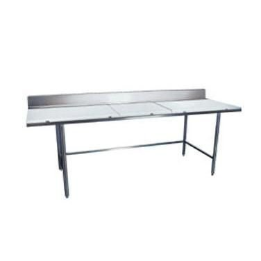 "Win-Holt DPTB-2496 Stainless Steel Work Table with Polyethylene Top 96"" x 24"""