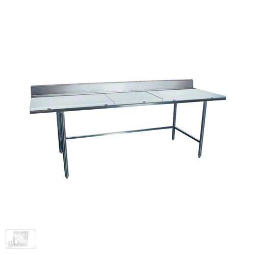 "Win-Holt DPTB-3060 Stainless Steel Work Table with Polyethylene Top 60"" x 30"""
