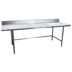 "Win-Holt DPTB-3696 Stainless Steel Work Table with Polyethylene Top 96"" x 36"""