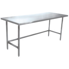 "Win-Holt DTR-2484 84"" x 24"" Stainless Steel Work Table"