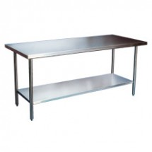 "Win-Holt DTS-2448 48"" x 24"" Stainless Steel Work Table with Undershelf"