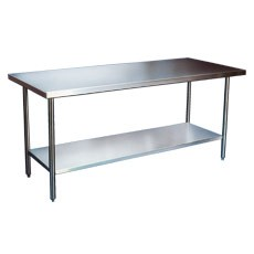 """Win-Holt DTS-2484 Stainless Steel Work Table with Undershelf 84"""" x 24"""""""