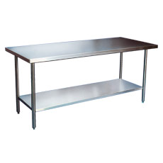 "Win-Holt DTS-3672 72"" x 36"" Stainless Steel Work Table with Undershelf"