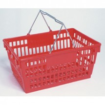 Win-Holt LSB-1RD Large Red Grocery Shopping Basket 19