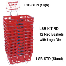 Win-Holt LSB-SGN Shopping Basket Sign