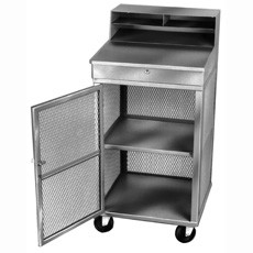 Win-Holt OTE-2224-GY Gray Steel Expanded and Enclosed Receiving / Shop Desk