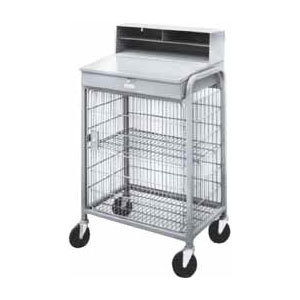 Win-Holt OTE-2227E1-GY Steel and Wire Mesh Receiving / Shop Desk