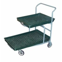 Win-Holt PNC-1-WM/PU-GR Nesting Customer Cart with Plastic Deck