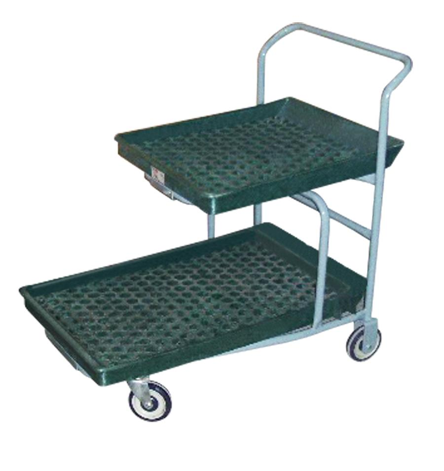 Win-Holt PNC-1-WM / PU-GR Nesting Customer Cart with Plastic Deck