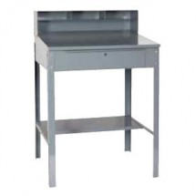 "Win-Holt RDSWN-4 32-1-2"" Stationary Heavy Duty Steel Receiving Desk"
