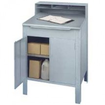 Win-Holt RDSWNSS-5 Stationary Enclosed Stainless Steel Receiving Desk