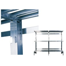 Win-Holt SCASU-24L Left Upright for Cantilevered Shelving 24""