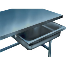 "Win-Holt SD-1/24 Stainless Steel Drawer For 24"" Wide Table"