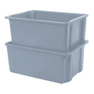 Win-Holt SN-2618 Gray Stack and Nest Polyethylene Lug