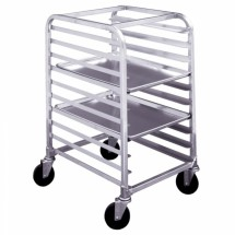 "Win-Holt SS-106 Half Height Mobile Platter Rack, 13"" x 26"""
