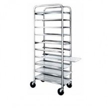 "Win-Holt SS-1210 Stainless Steel Platter Cart, Ten 12"" Trays"